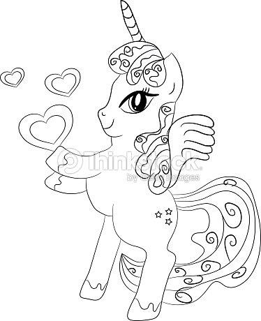 Unicornopagina Da Colorare Per I Bambini Arte Vettoriale Thinkstock
