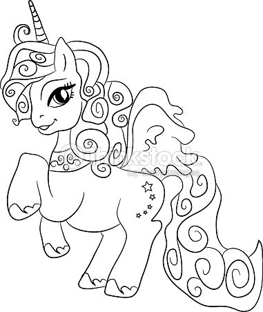 Unicorn Coloring Page For Kids Vector Art | Thinkstock