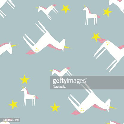 Unicorn pattern. Cute background. Vector illustration. : Vector Art