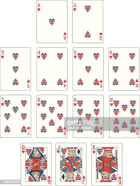 Union Jack Heart Suit Playing Cards