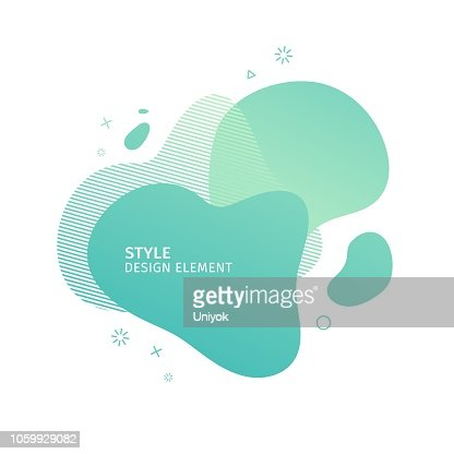 Unique abstract graphic elements. Eco banner with a gradient shape. Design template for presentation or flyer. Abstract forms green dynamic composition. Minimal mesh background. Modern style vector. : Vector Art