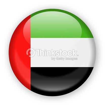 united arab emirates flag vector round icon vector art thinkstock