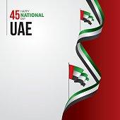 United Arab Emirates (UAE) National Day Vector illustration december the 2nd, spirit of the union. UAE national day celebration