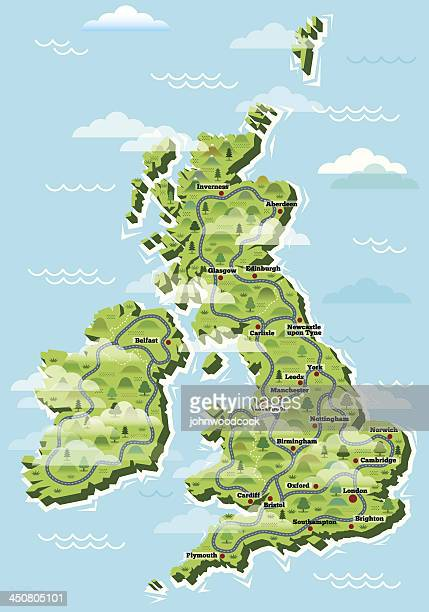 United Kingdom cities map
