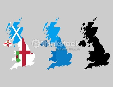 Map Of England Ireland Scotland Wales.United Kingdom Countries Political Map England Scotland Wales
