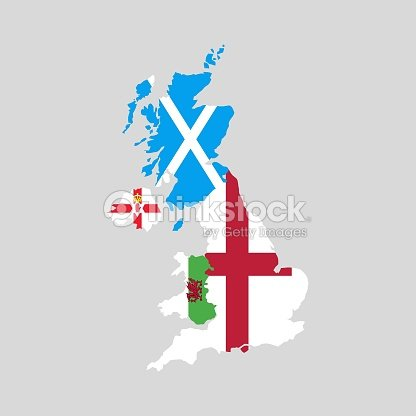 Map Of Uk Scotland And Ireland.United Kingdom Countries Political Map England Scotland Wales