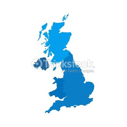 Map Of Scotland Wales And England.United Kingdom Countries Political Map England Scotland Wales