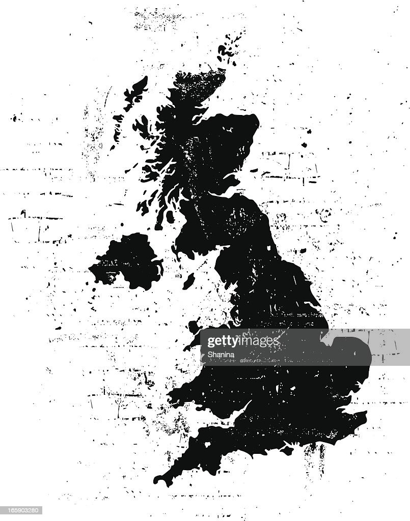 United Kingdom Grunge Map Vector Art Getty Images - United kingdom map vector