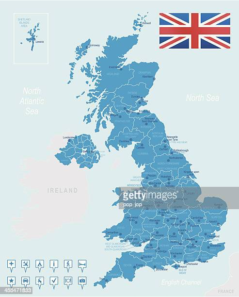 United Kingdom - highly detailed map
