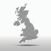 vector map of the united kingdom.