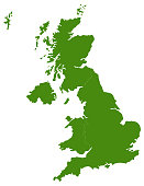 vector illustration of United Kingdom map