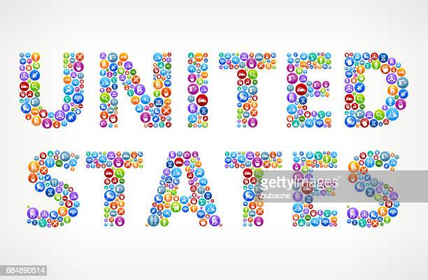 United States Future and Futuristic Technology Vector Buttons