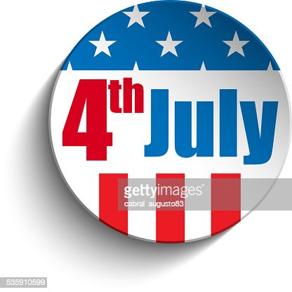 United States Independence Day Button : Vector Art