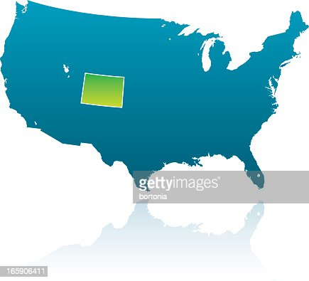 United States Maps Colorado Vector Art Getty Images - Colorado in the us map