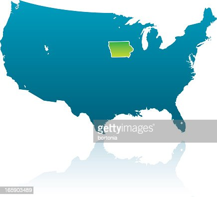 Iowa State County Map Vector Art Getty Images - Us map iowa