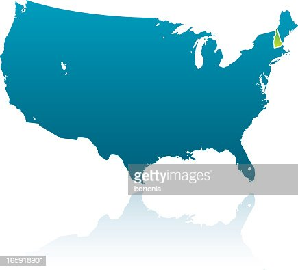 New Hampshire Map And Icons Vector Art Getty Images - New hampshire us map