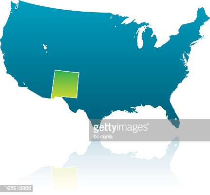 United States Maps New Mexico Vector Art Getty Images - Us map state highlighter
