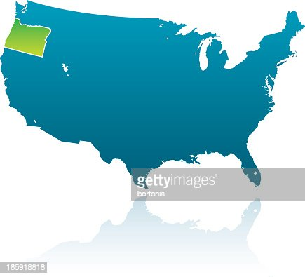 Oregon Us State Vector Art And Graphics  Getty Images