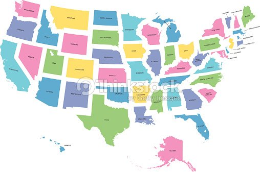 United States Of America Map Vector Art Thinkstock - United states of america map