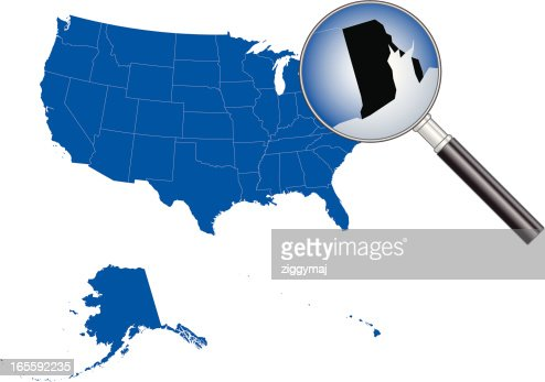 United States Of America Rhode Island Map Vector Art Getty Images - Rhode island in us map