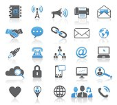 Universal Modern Contact Icon Set