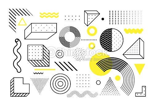 Tendencia universal set de formas geométricas : arte vectorial