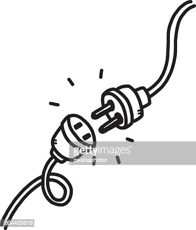 unplug : stock vector