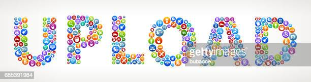 Upload Future and Futuristic Technology Vector Buttons
