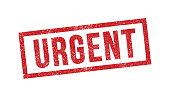 Vector illustration of Urgent red ink stamp