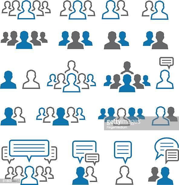 Ensemble d'icônes de l'utilisateur