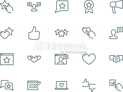 User reviews icons set : stock vector