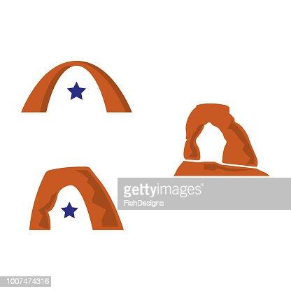 utah arch : stock vector