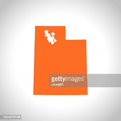 Utah map : stock vector