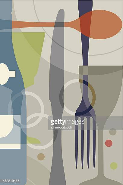 Utensils background design symbolizing fine dining