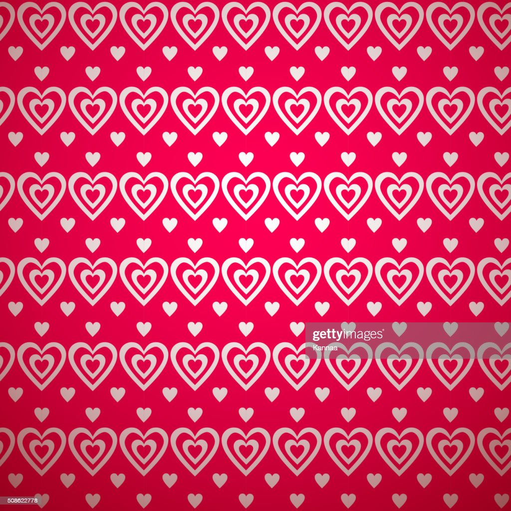 Valentine day pattern with shadow. Vector illustration : Vector Art