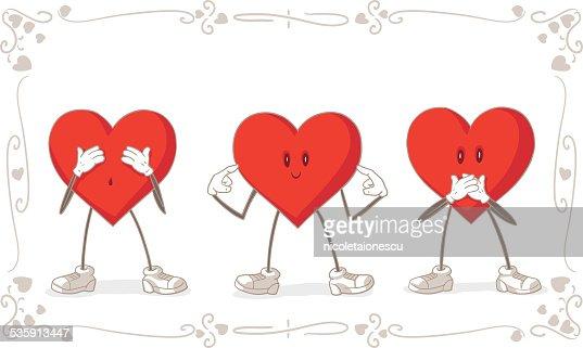 De día de San Valentín tarjeta Vector : Arte vectorial