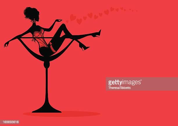 Valentinstag-Cocktail-Mädchen