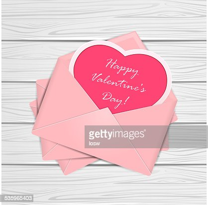 Valentines congratulations on wooden background : Vector Art
