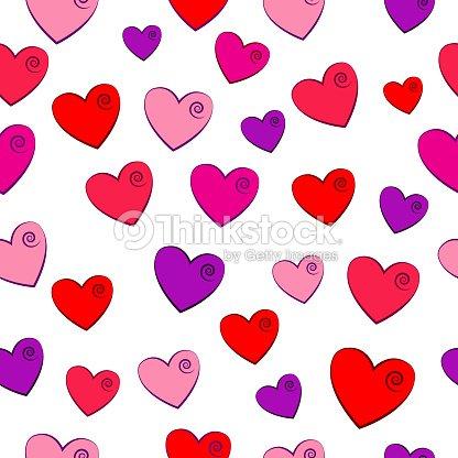 Fondo Del Día De San Valentín Con Corazones De Color Rosa Arte ...