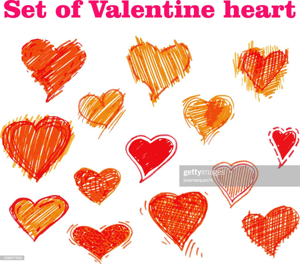 valentines day card with heart. : Vectorkunst