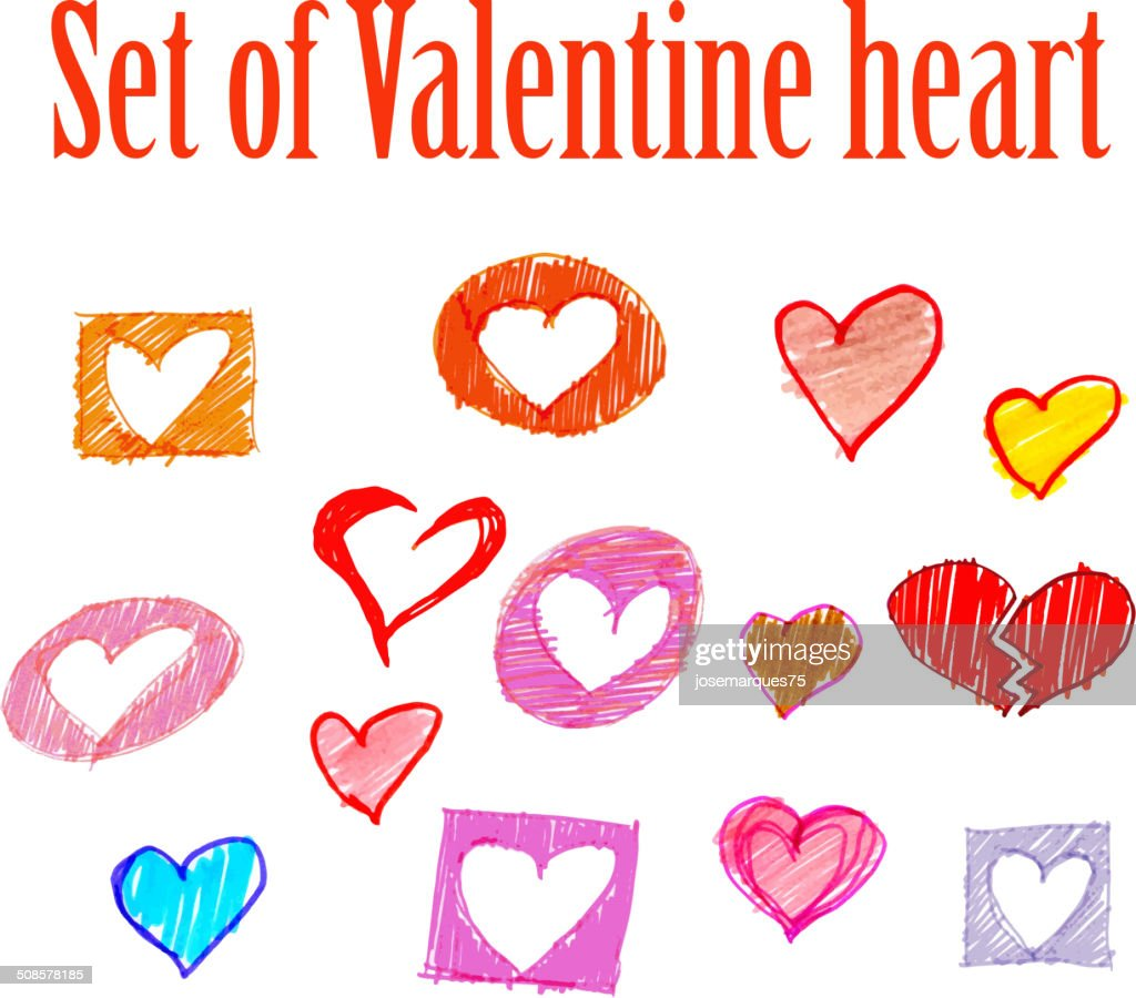 valentines day card with heart. : Vector Art