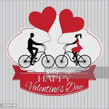 Valentines Day Card With Ribbon Vector Art Thinkstock