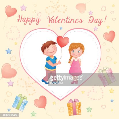 Valentines Day Illustration With Cute Couple Vector Art Thinkstock