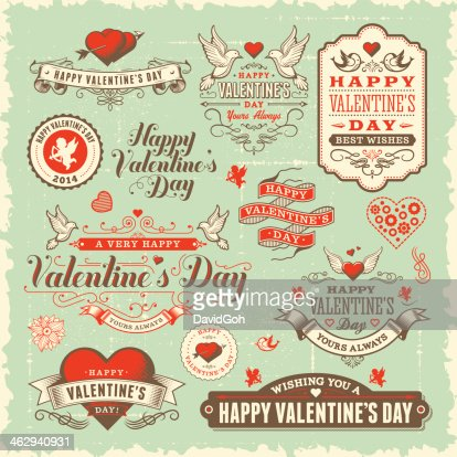 Valentines Day Label Set Vector Art  Getty Images