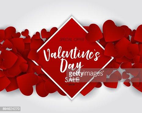 Valentinstag Liebe und Gefühle-Verkauf-Hintergrund-Design. Vektor-illustration : Vektorgrafik