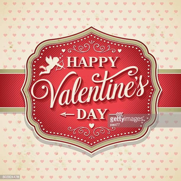 Valentinstag Retro Frame mit Cupid