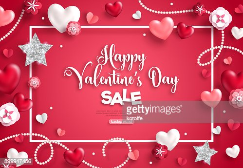 Valentines Day Sale Frame Vector Art Thinkstock