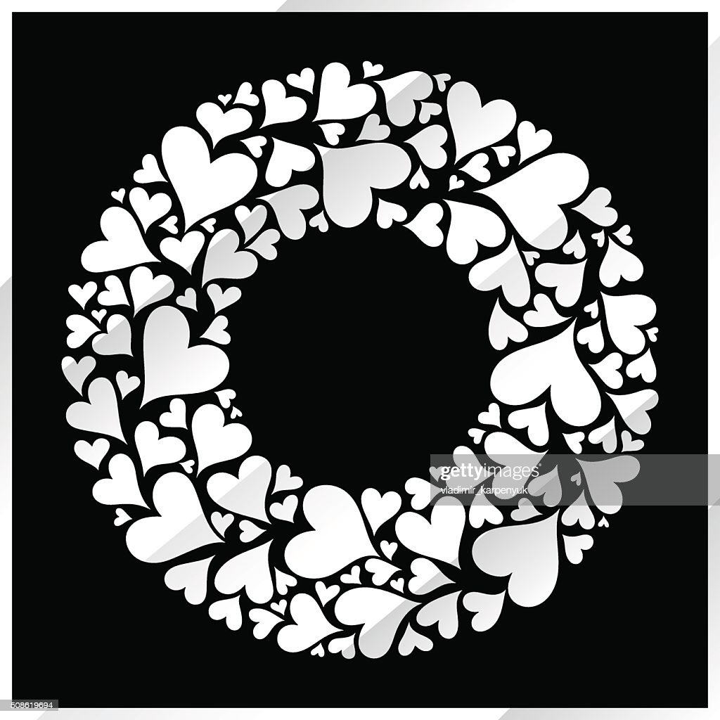 Valentine's day vector silver background. : Vector Art