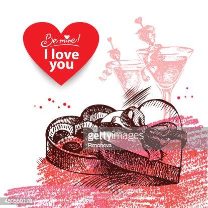Dia dos Namorados fundo vintage : Arte vetorial