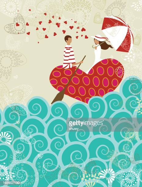 San Valentino amore boat